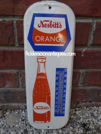 Nesbitt's Orange Soda Pop Vintage Thermometer