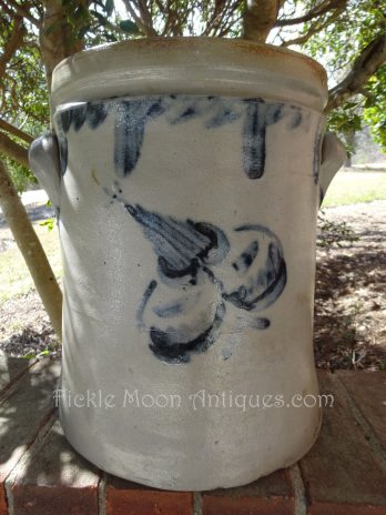 3 Gallon Pennsylvania Cobalt Blue Stoneware Crock