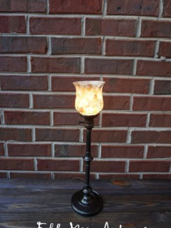 Emeralite Turned Column Colonial Base Bellova Shade Lamp