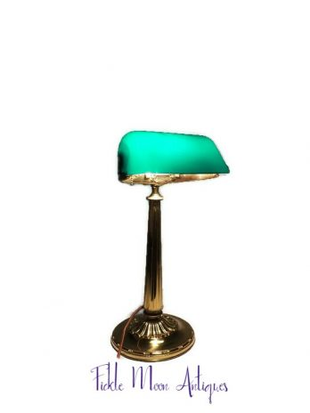 Emeralite Banker's Library Lamp
