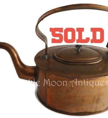SOLD*** Britton's Signed Copper Tea 19th Century Tea Kettle 1880's Primitive