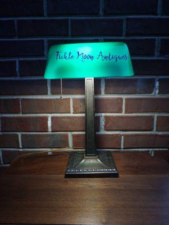 SOLD**Amronlite Banker's Lamp