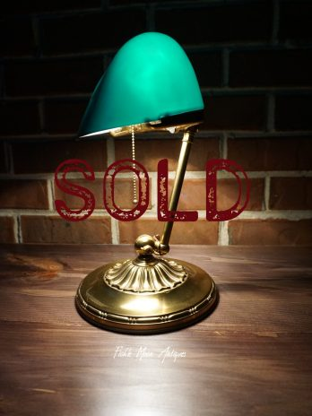SOLD**  Emeralite Banker's Lamp