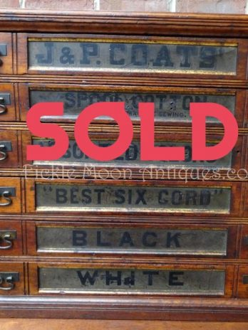 SOLD***  J & P Coats Antique Spool Cabinet