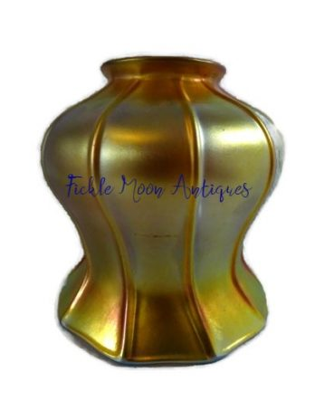 Quezal Iridescent Gold Art Glass Shade Early 20th Century