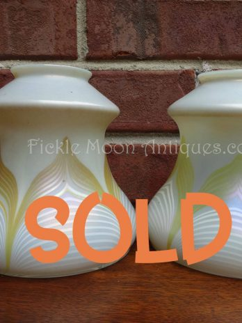 ZSOLD*Quezal Art Glass Shades