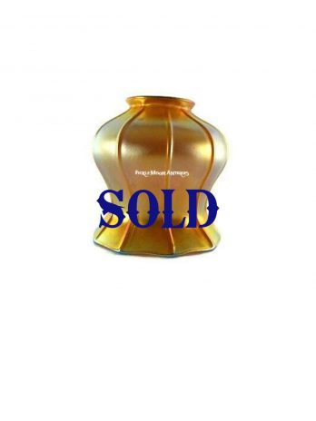 ZSold*****Quezal Iridescent Gold Art Glass Shade Early 20th Century Free Shipping