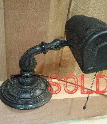 SOLD**  Aladdin Manufacturing Company Art Deco Metal Desk Lamp