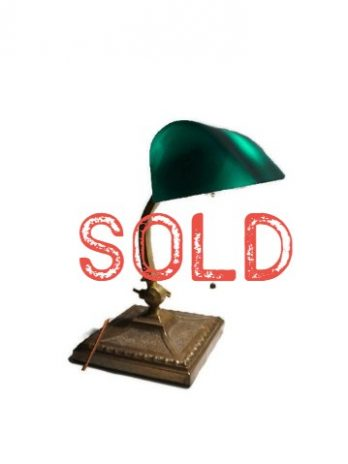 SOLD**  Amronlite Antique Desk Library Lawyer's Lamp