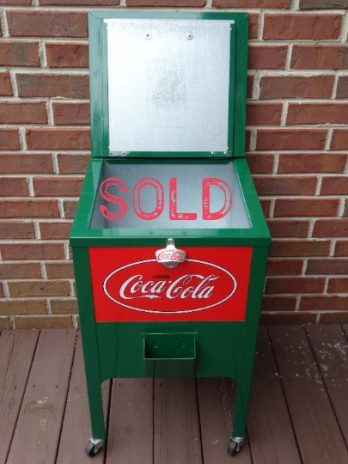 Vintage Coca Cola Single Case Cooler Glascock-Type Cooler