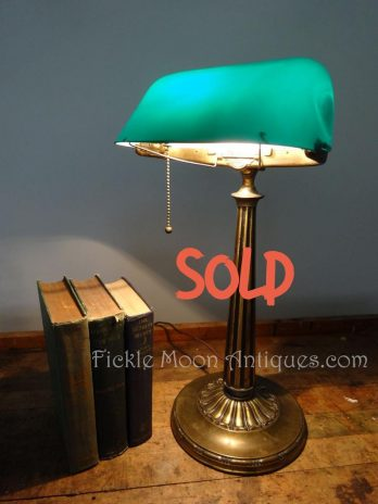 SOLD**  Emeralite Banker's Desk Lamp