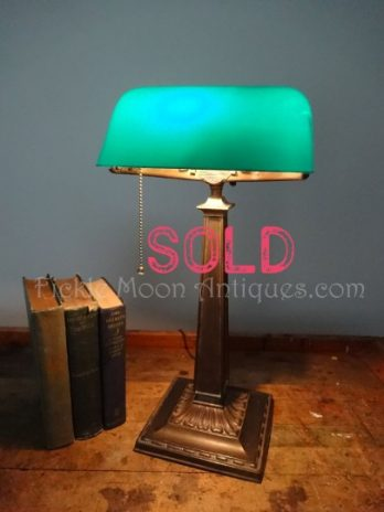 SOLD**  Emeralite Banker's Lawyer's Library Desk Lamp