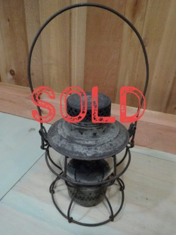 SOLD***  Handlan Railroad Lantern Baltimore and Ohio Railroad