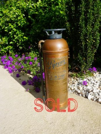 SOLD*** Pyrene Soda-Acid Vintage Fire Extinguisher