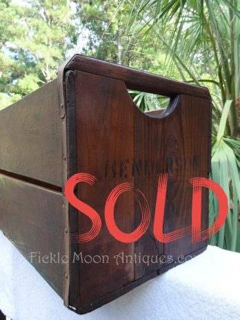 SOLD***  Vintage Rustic Wood Crate