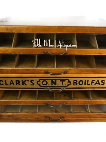 Clark's O.N.T. Spool Sewing Cabinet Storage Cabinet Jewelry Cabinet
