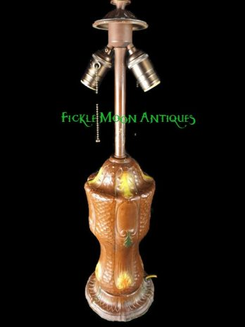 Antique Lights  Rainaud Slag Glass Beautiful Table Lamp