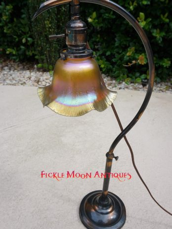 Antique Lighting Crescent C-Arm Desk Lamp Arts & Crafts Early American