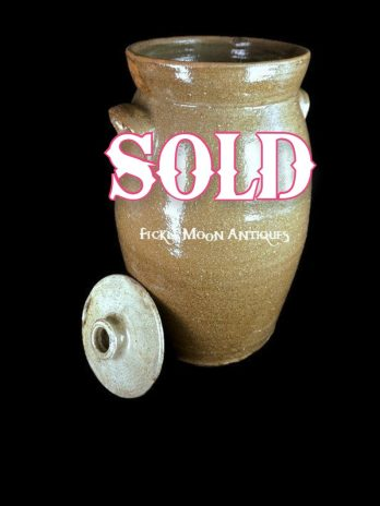 SOLD**   Southern Pottery Churn Alkaline Glaze 4-5 gallon   ***Sold