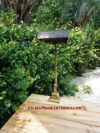 Emeralite H.G. McFaddin & Company Tall Vintage Metal Shade Lamp