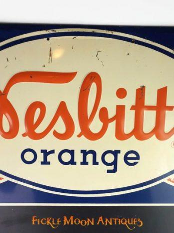 Nesbitt's Orange Embossed Soda Pop Menu Sign