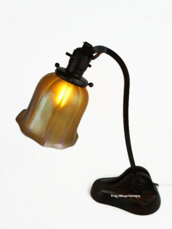 Antique Louis Comfort Tiffany Desk Lamp & Shade Simply Magnificent