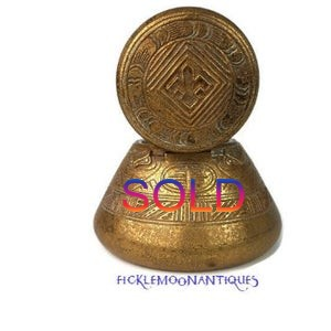 SOLD**   Tiffany Studios Inkwell American Indian Pattern LCT