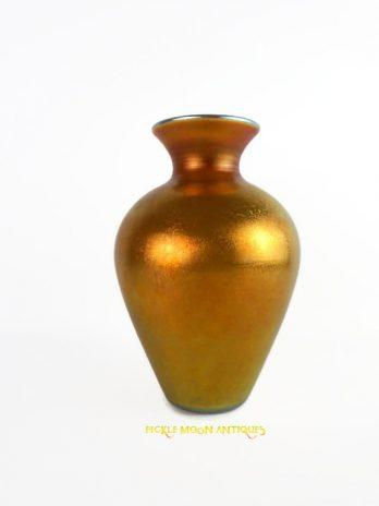 Lustre Art Glass Company Antique Art Glass Vase