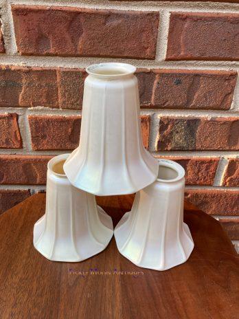 Quezal Set of Three Art Glass Lamp Shades